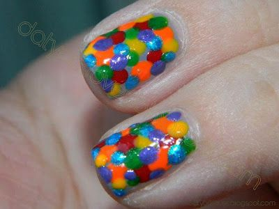 datyorkLOVES: Day 9- Rainbow Nails Dots Edition