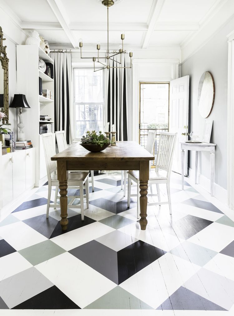 Do it yourself paint wood floors with a fun pattern dyi how to do it yourself paint wood floors with a fun pattern dyi how to instructions solutioingenieria Image collections