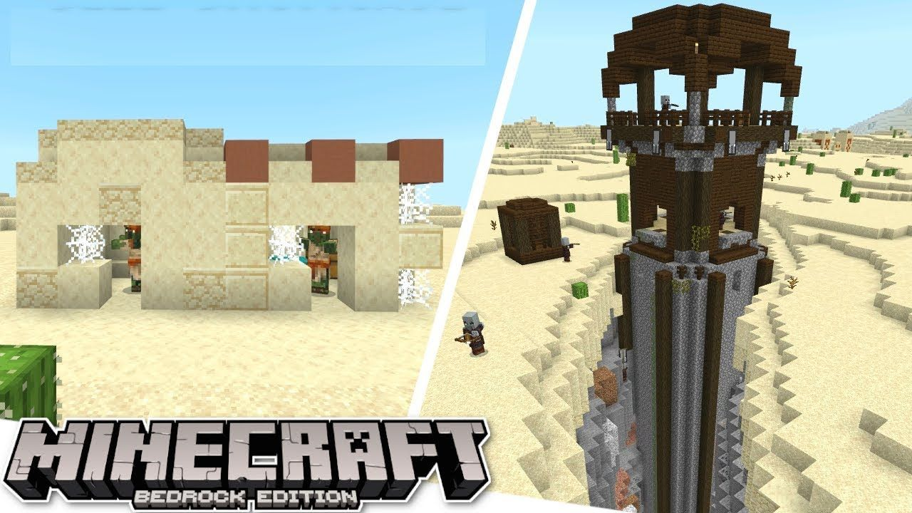 Minecraft Bedrock Epic Outpost Villages Seed Showcase Ps4 Mcp In 2020 Playstation Psn Survival Seeds Outpost