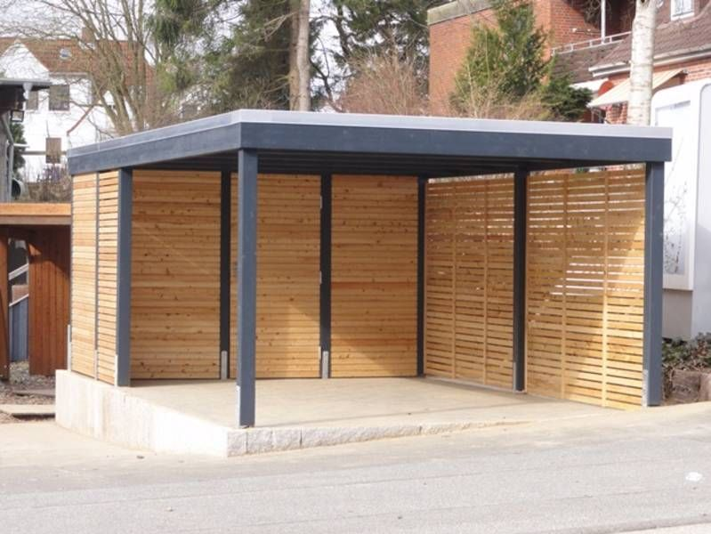 carport modern mit seitenverkleidung terasse garten. Black Bedroom Furniture Sets. Home Design Ideas