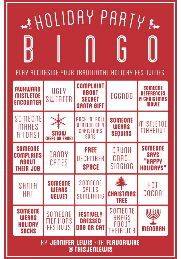 Holiday Party Bingo Holiday Bingo Office Christmas Party Games