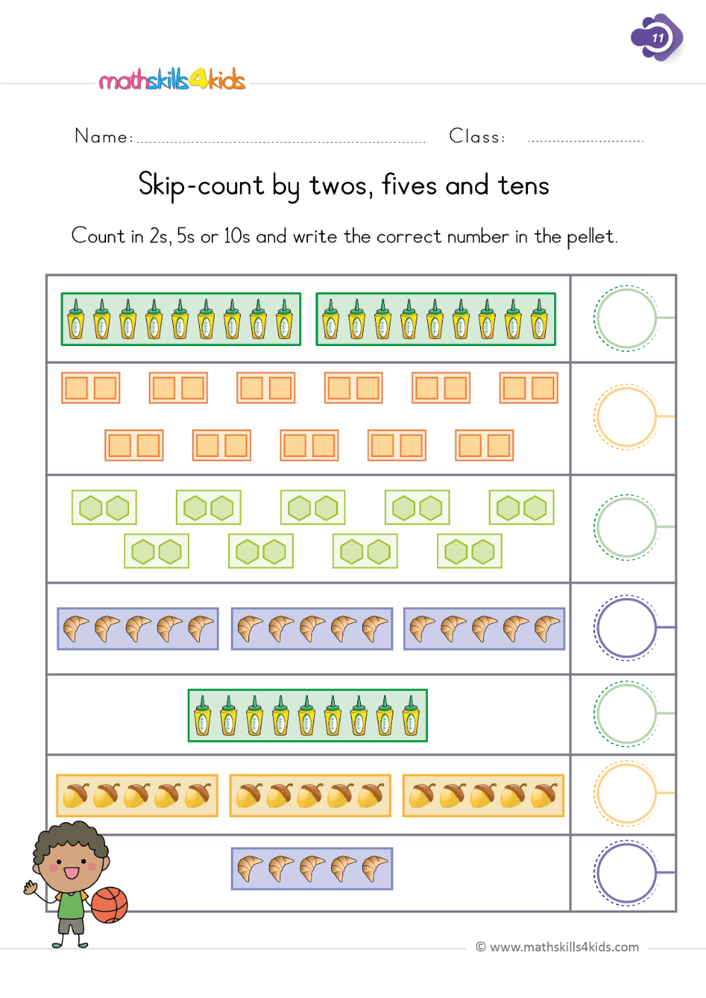 medium resolution of Numbers and counting worksheets for Grade 1   Math Skills for Kids   1st  grade worksheets