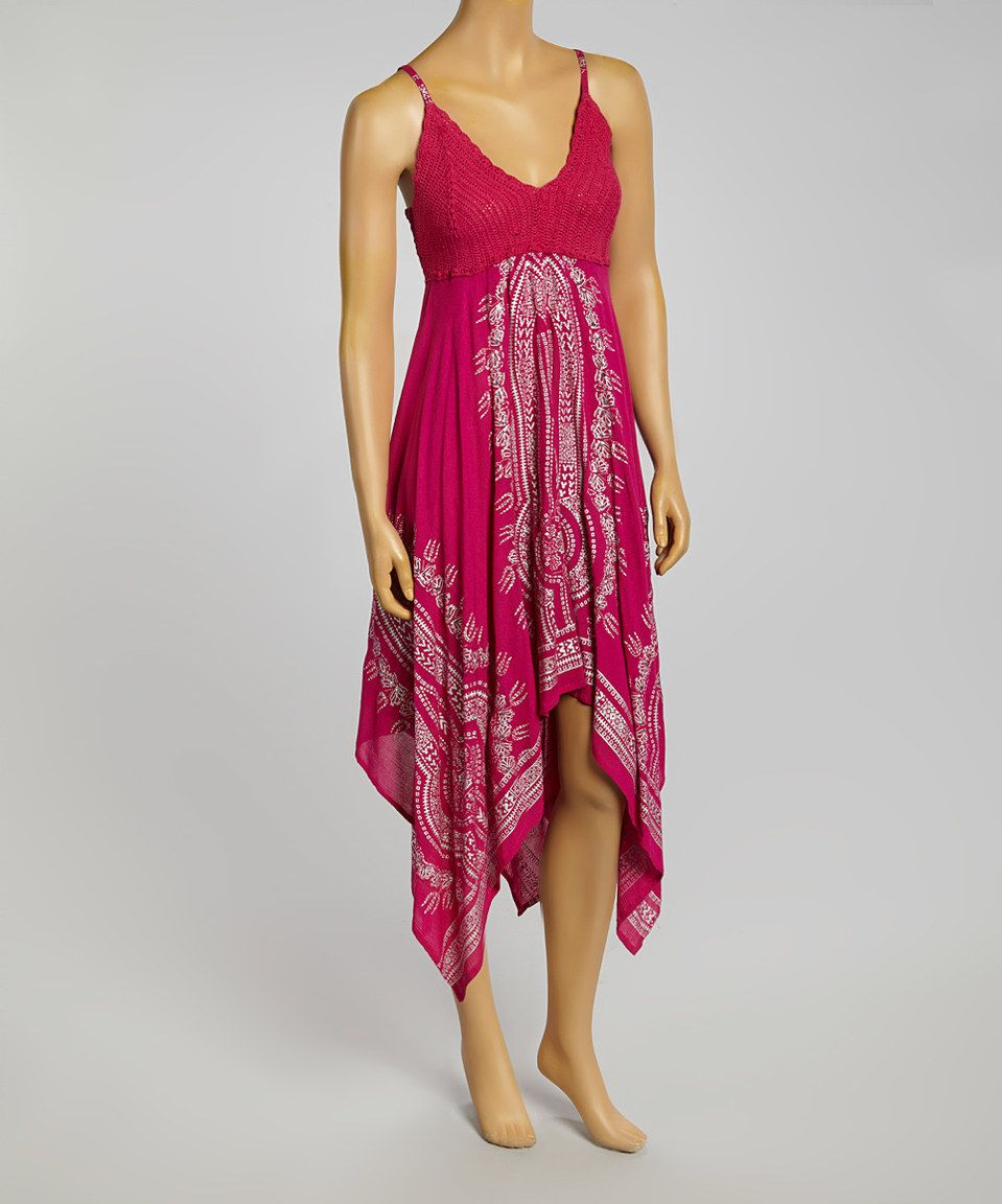 Look what i found on zulily fuchsia crocheted handkerchief dress