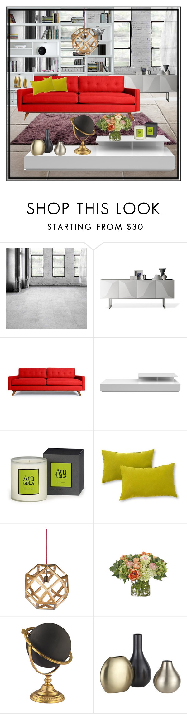 """""""Untitled #02"""" by aemi-chan ❤ liked on Polyvore featuring interior, interiors, interior design, home, home decor, interior decorating, Linfa Design, Thrive, Modloft and Greendale Home Fashions"""