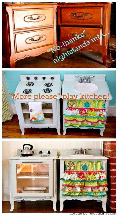 Yuck To Yum Diy For Kids Play Kitchen Kids Playing