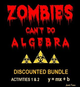 Slope-Intercept Equations and Graphs: Zombies Can't Do Algebra ...