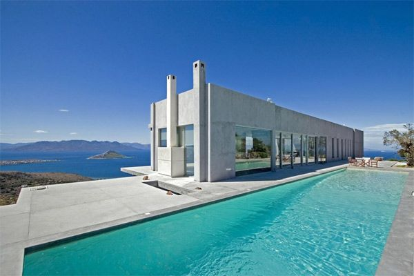Modern Greek Homes this weeks project is based off of this building. modern greek