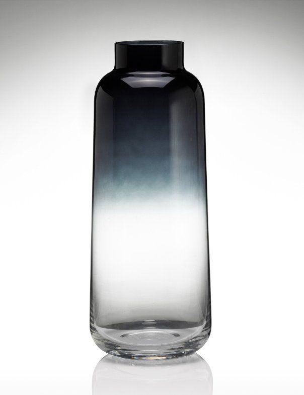 Conran Tall Colour Fading Vase Vase Grey Glass Bottle