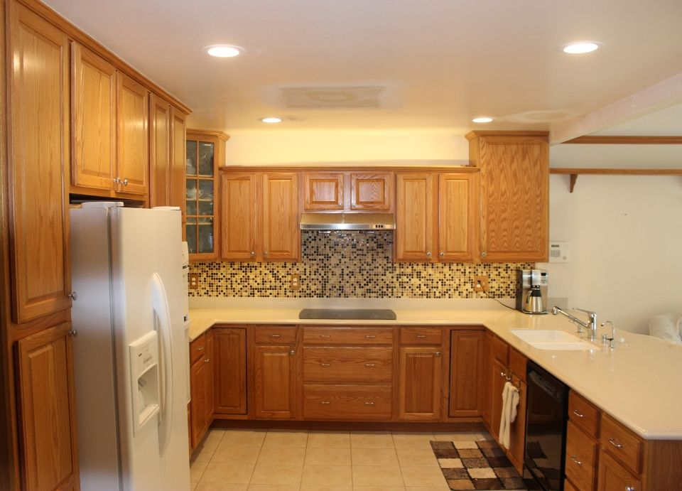 Kitchen Recessed Lighting With Flat Ceiling Lights For Luxurious