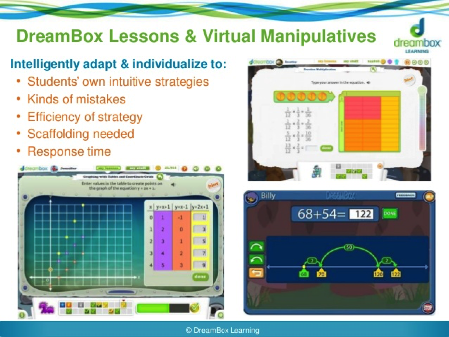Dreambox Learning is an online math program for K-8 students