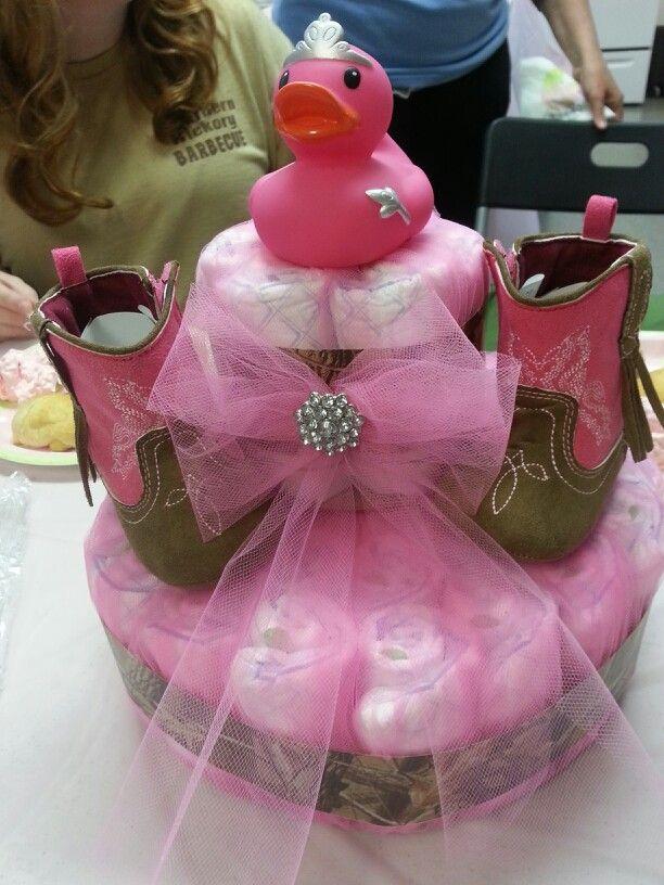 Redneck princess diaper cake   Baby P   Pinterest