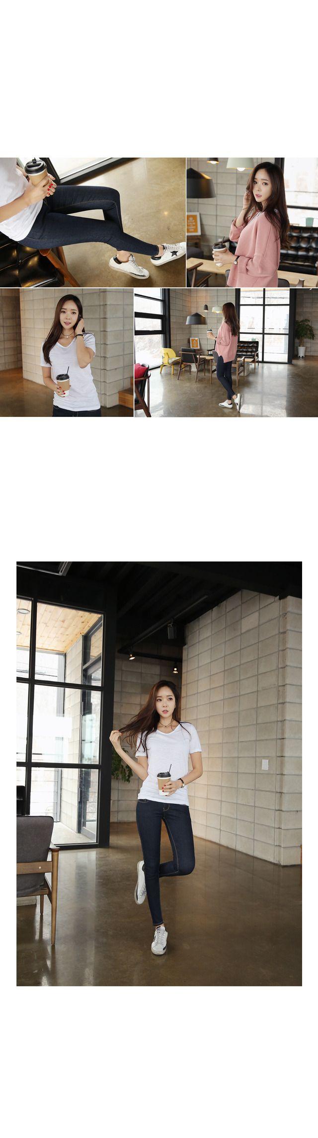 -컬러: 화이트,블랙,그레이,네이비,카키,민트,오렌지,핑크,라임 -모델 착용컬러: 화이트   슬라브 원단의 스타일리쉬한 티셔츠 느낌있는 슬라브 원단으로 제작한 반팔 티셔츠에요~~ 슬림한 핏에