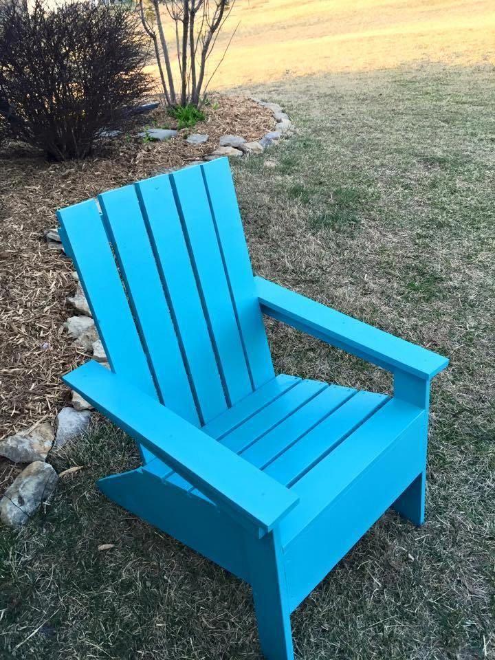 Teal Adirondack chair free plan simple