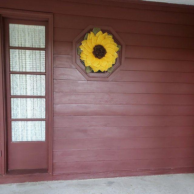 Photo of Sunflower Wreath, Fuchsia Flower Wreath, Fuchsia Wreath, Spring Wreath, Fuchsia Wreath, Pink Flower Wreath, Sunflower,Door Wreath, Front Do