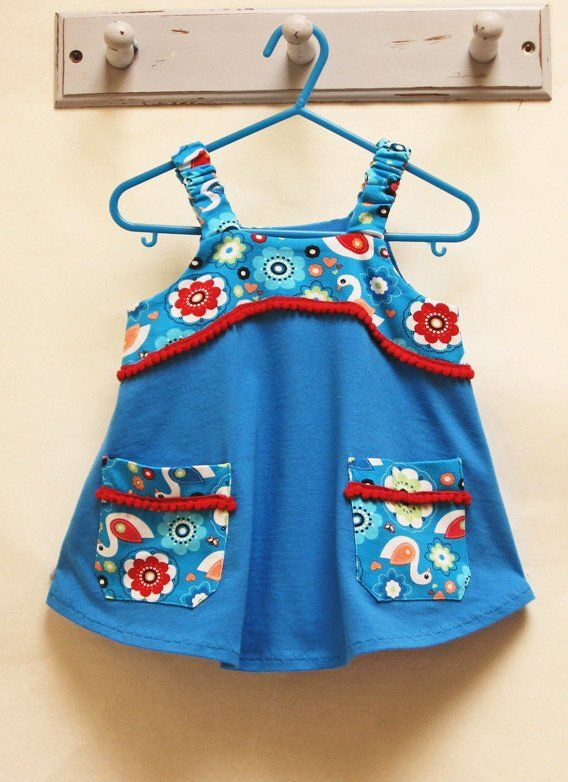 cb6cd2b2e9e2 Tunic sewing pattern Baby   girls POP-OVER TUNIC sizes 1-10 years ...