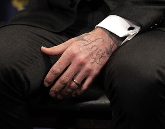 David Beckhams First Hand Tattoo Style David Beckham