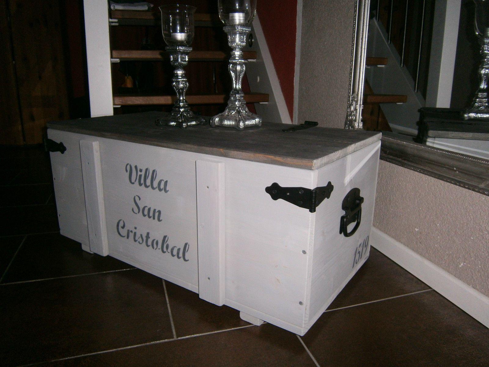 Couchtisch Truhe Tisch Kiste Frachtkiste Holz Kuba Cuba Havanna ...