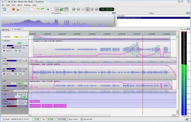 Traverso Daw Software Gratuito Para Grabar Y Editar Audio Con Versiones Para Windows Linux Y Mac Music Software Audio Audio Video