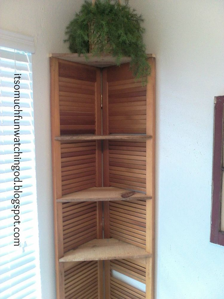 Bi Fold Doors Turned Corner Shelf Corner Shelves Bifold Doors Diy Door