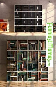Funny Pictures Clever Bookcase Design - Read Your Bookcase