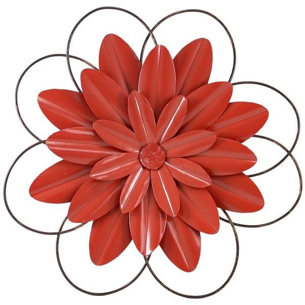 Fetco Savion Flower Metal Wall Art () (€36) ❤ liked on Polyvore ...