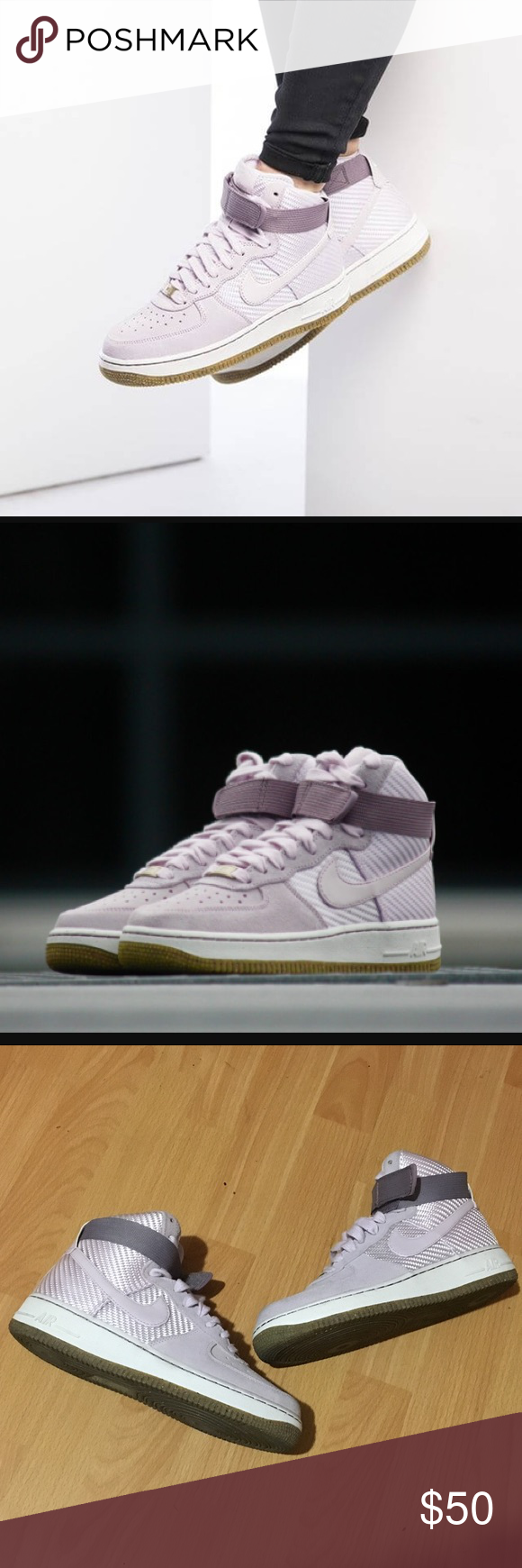 99e59c04a608 Nike Air Force 1 High Bleach Lilac sz 8 Women s Nike Shoes Sneakers