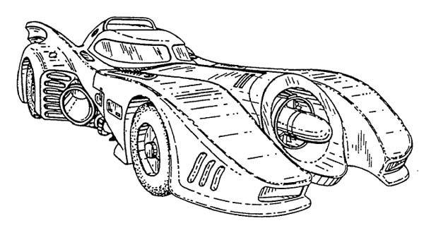 1989 Batmobile Blueprints Batmobile Batman Batmobile Cartoon Bat