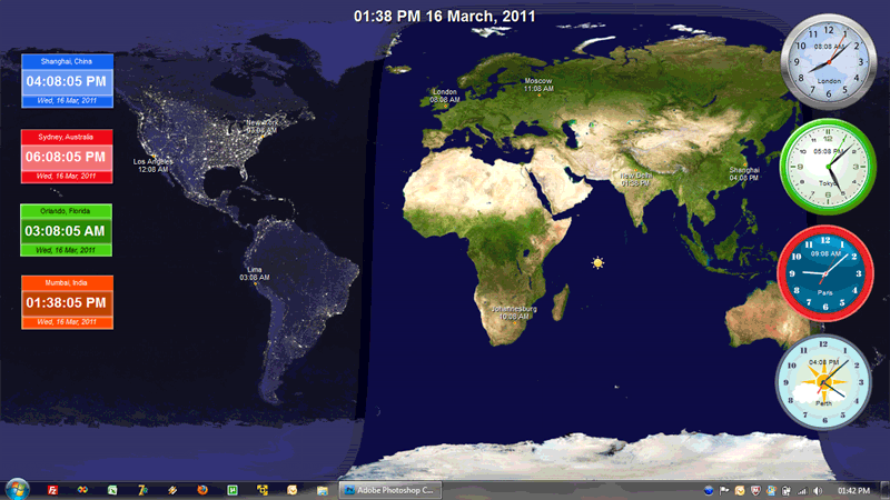 Freeware download live world clock desktop wallpaper images search results for free world clock desktop wallpaper adorable wallpapers gumiabroncs Choice Image