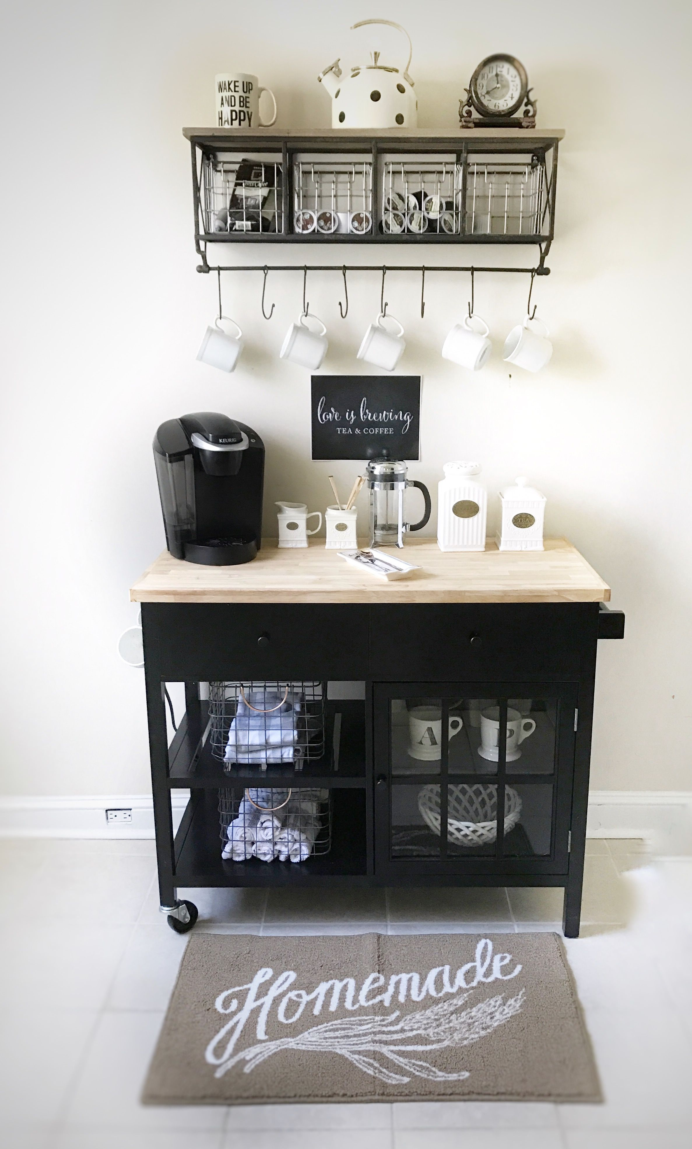 Coffee station. Love is Brewing. Wake up and be Happy. | Rincones ...