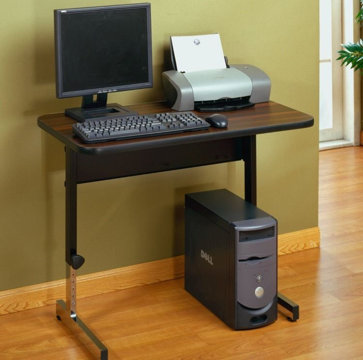 Computer desk for small spaces writing kids study student