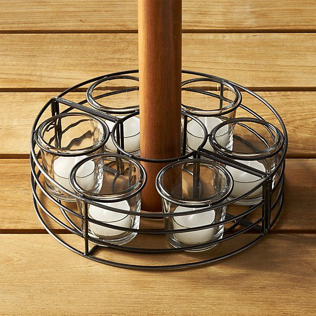 Superbe Umbrella Tealight Centerpiece | Crate And Barrel Patio Umbrella Lights, Outdoor  Umbrellas, Outdoor Tables