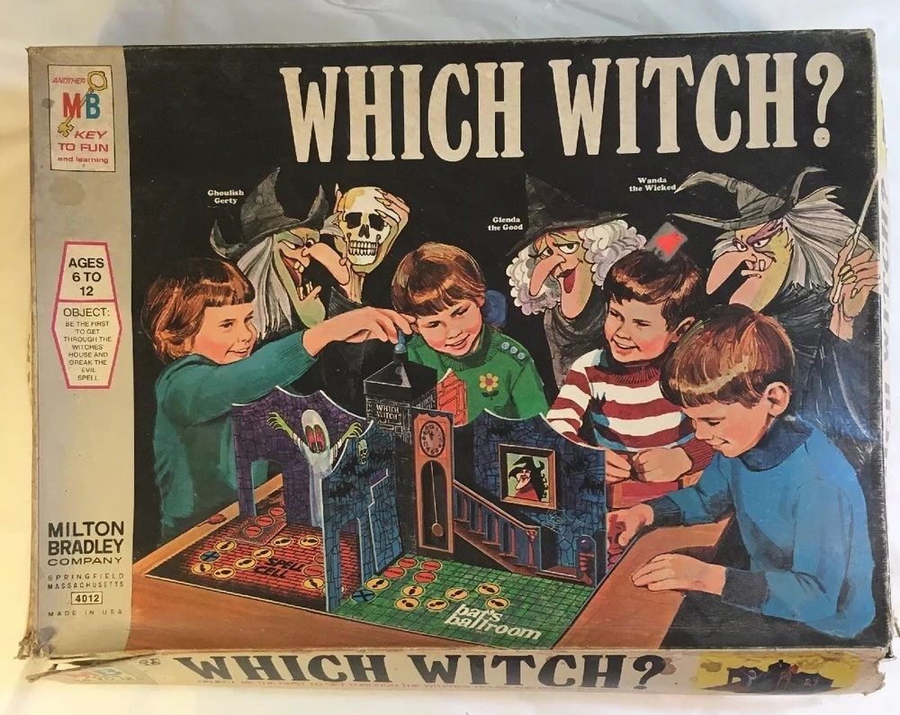 Which Witch? Board Game Vintage Milton Bradley 3D 1970