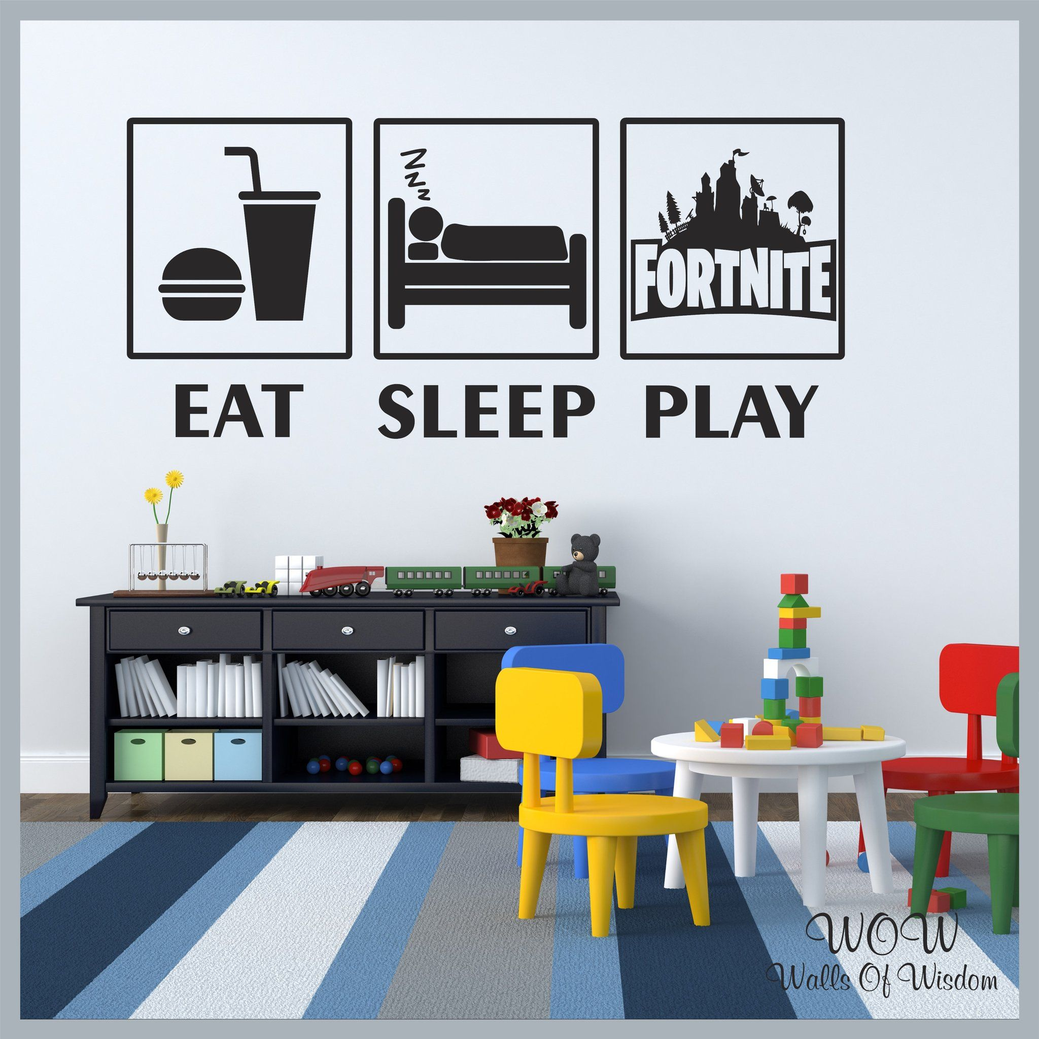 FREE UK Delivery Wall Stickers & Decals Fortnite Play