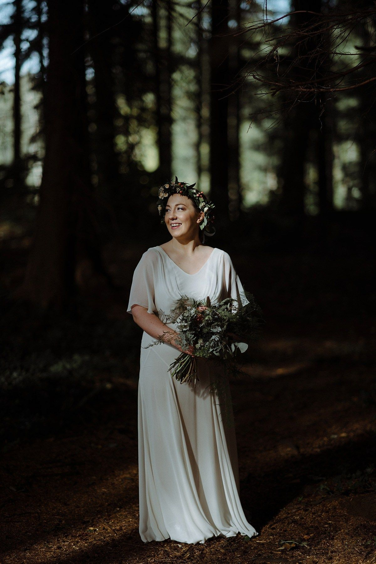 A vintage ghost gown for a forest inspired city wedding gowns