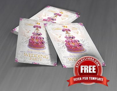 Check out new work  - wedding flyer