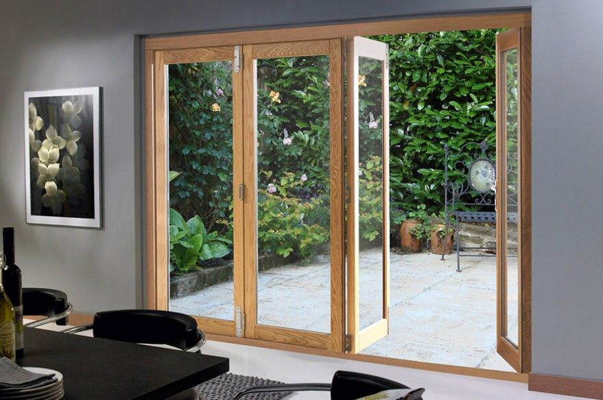 Deluxe Oak Bifold Doors Folding Patio Doors Patio Doors Sliding Patio Doors