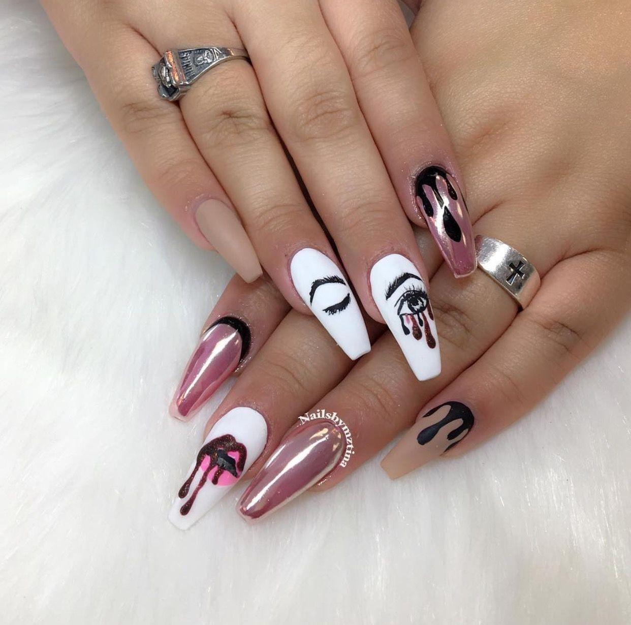 ✨ᖴOᒪᒪOᗯ @🌈𝔾𝕝𝕒𝕞𝕠𝕦𝕣 ℕ𝕒𝕚𝕝𝕤🌈 ᖴOᖇ ᗪᗩIᒪY ᑎᗩIᒪ ᗪEᔕIGᑎ ᑭIᑎᔕ✨ Long Nail  Designs - Pin By Ceola Johnson On Nails Nails, Nail Designs, Acrylic Nails