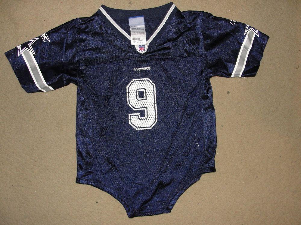 quality design a5b57 c89d4 REEBOK Infants Onesie Blue Gray DALLAS Cowboys Tony Romo ...