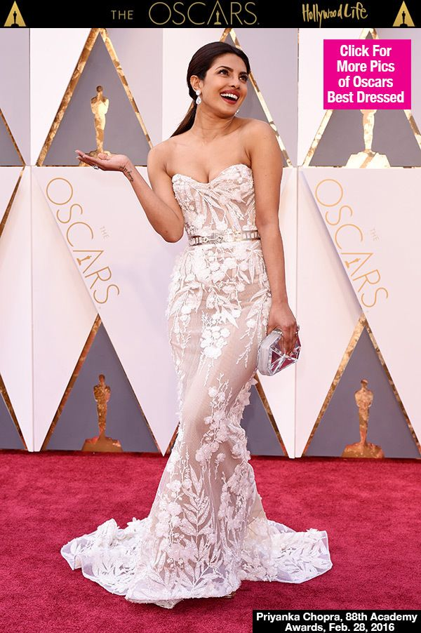 Priyanka Chopra Slays In Sheer White Gown At The Oscars Red Carpet Gowns Oscar Gowns Dresses