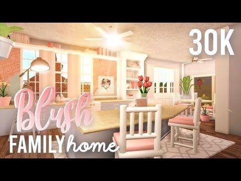Bloxburg Blush Family Budget Home 30k House Build Youtube Building A House Unique House Design Modern Family House