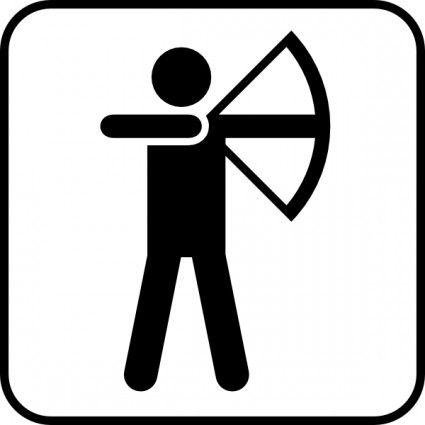 bow arrow sports land recreation symbols clip art art techniques rh pinterest com free bow and arrow clipart