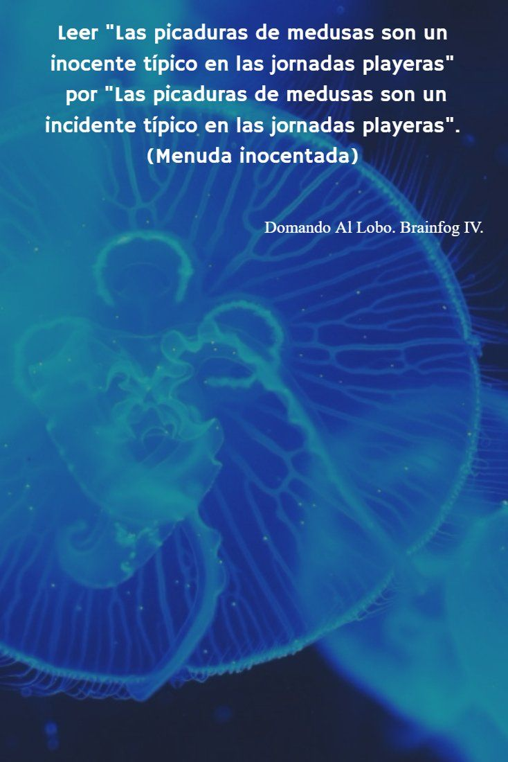 ¡Cuidadito con las medusas!  http://domandoallobo.blogspot.com/2016/06/191-brainfog-iv-leer-huevos-que-pican.html #191 Leer con #brainfog (IV)
