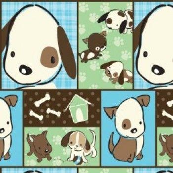 Tecido - Naughty Puppies - Repetição