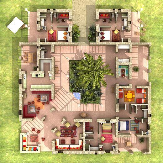 Plante D Interieur Pour Plan Maison Plain Pied 3 Chambres 110m2 - simulation maison a construire
