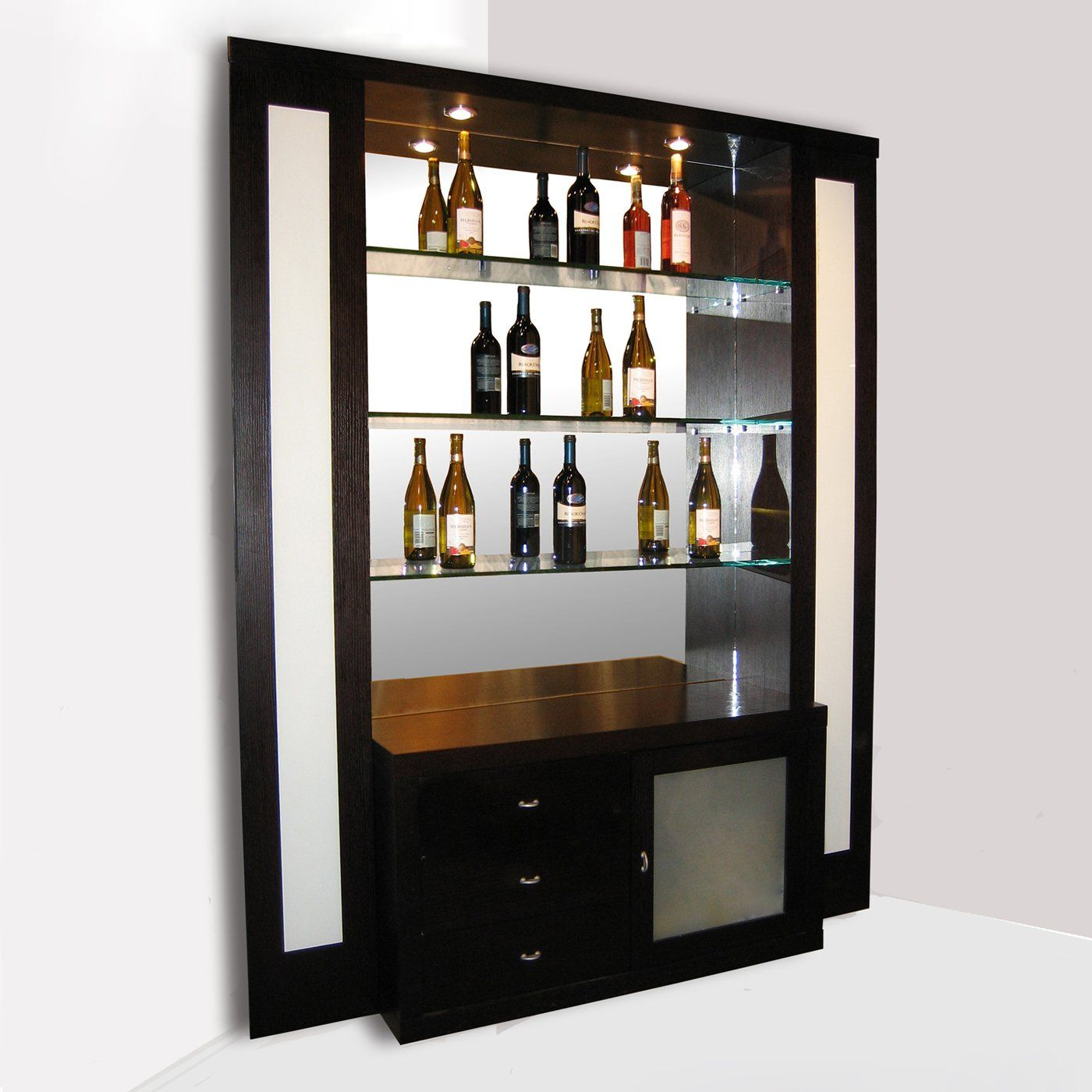 Sharelle Furnishings ELITE-W-BARCORNER-WENGE Elite Corner Home Bar ...