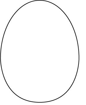 From A Google Search For Easter Card Templates  ReSizeable Egg