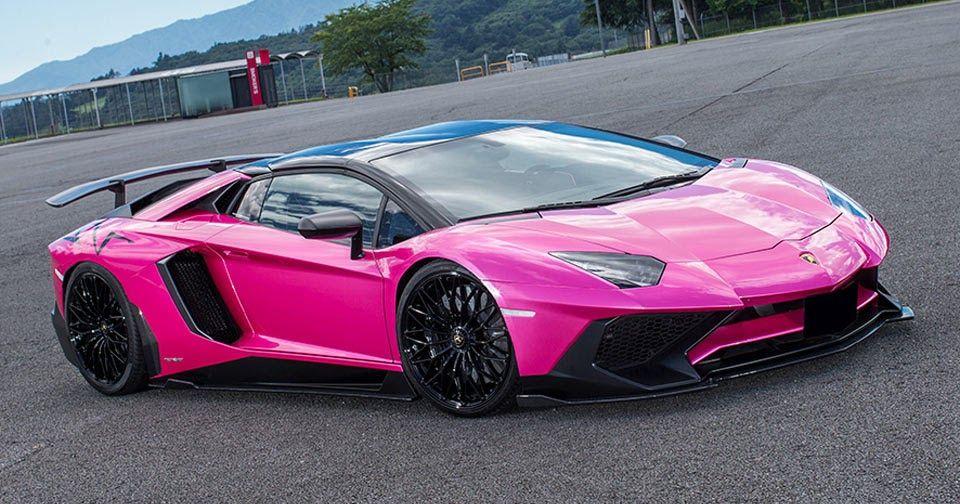 Liberty Walk Lamborghini Aventador Sv Is Oh So Pink Lamborghini