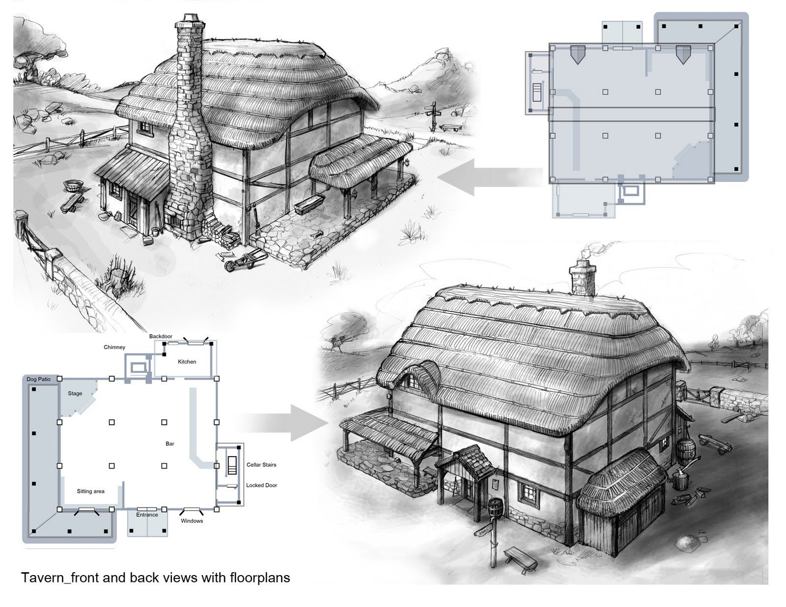 10 best Medieval & Fantasy Inn Plans images on Pinterest | Fantasy ...