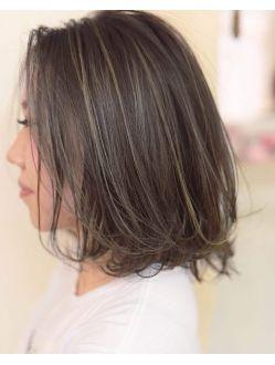 オススメ アンベリールの外国人風w3dハイライトカラー 髪型 髪 色