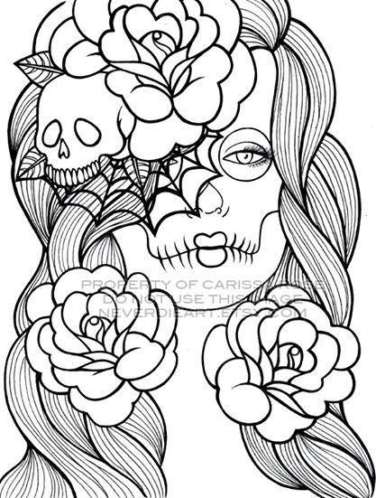 Coloriages zen pour adultes dessins skull coloring pages coloring book pages et coloring pages - Coloriages pour adultes ...